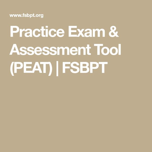 Practice Exam & Assessment Tool (PEAT) | FSBPT