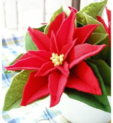 donneinpink - risparmio e fai da te: Come fare una stella di Natale con feltro