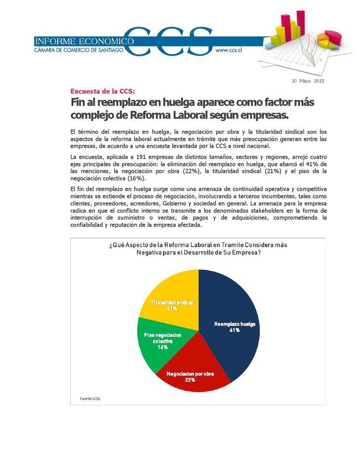 Informe Económico CCS: Encuesta Reforma Laboral  Publicado el 20 de mayo del 2015