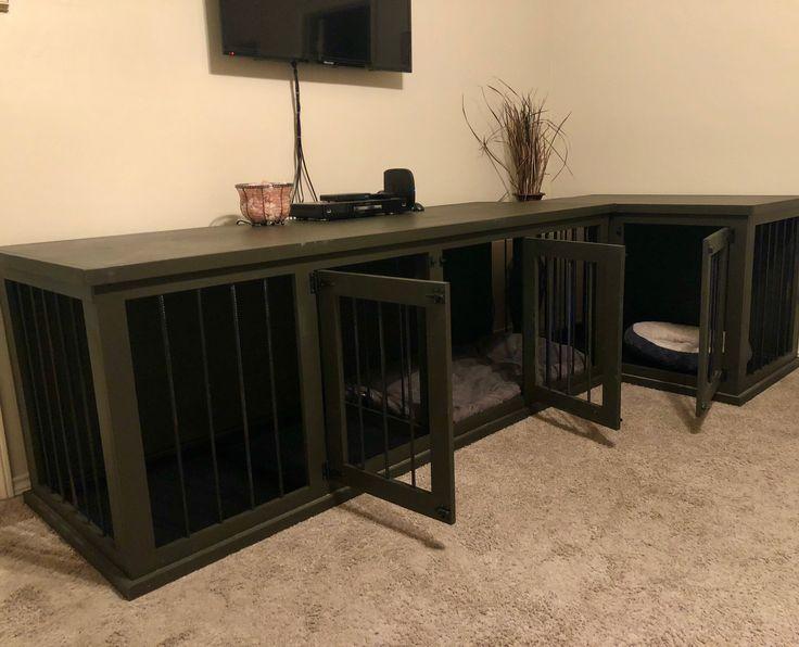 Custom Wooden Dog Kennels Made to Order - www.DaileyWoodworks.com