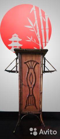 Старинный бамбуковый шкафчик кон.19-нач.20 вв— фотография №1