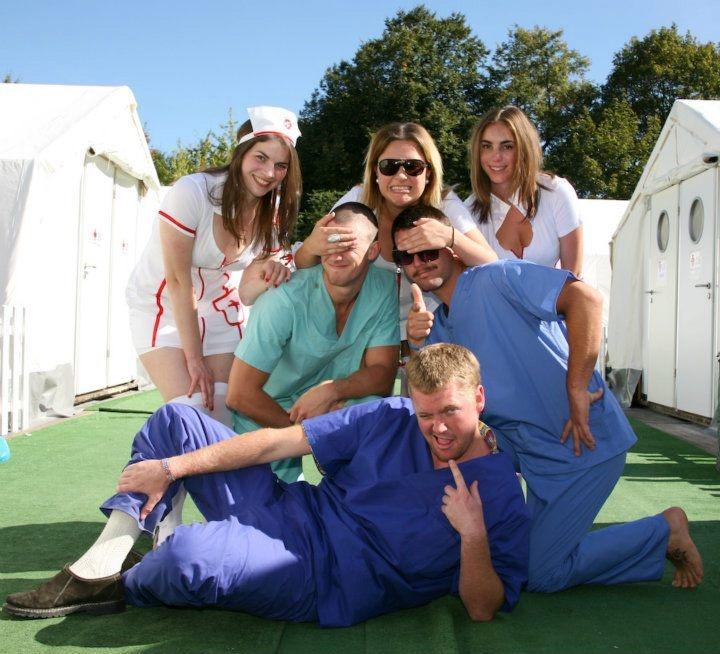 Hostival staff at Hangover Hospital Hostel - Oktoberfest, Munich Germany