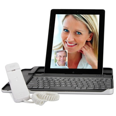 The iPad Internet Chat Handset is ideal for users of Skype or FaceTime! Does your mom know? - www.MyWonderList.com