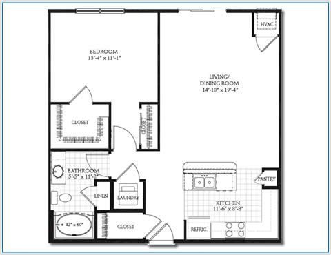 Floor plan 1 mn mobile 480 370 house plans pinterest apartment floor plans - One room apartment design plan ...