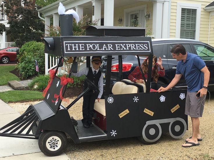 Entry in golf cart parade, July 2016: See blog for details:  http://diannescards.com/2016/07/04/polar-express-wins/