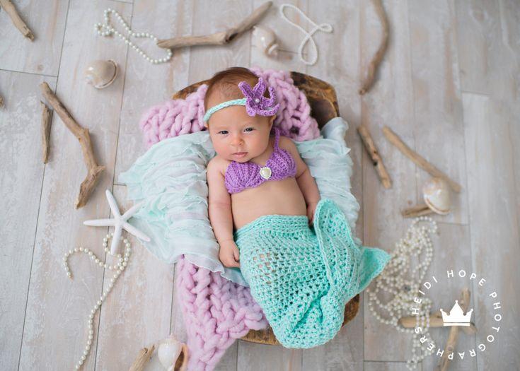 Excited to share the latest addition to my #etsy shop: Newborn Mermaid - Baby Mermaid Tail - Mermaid Newborn Outfit - Baby Mermaid Costume - Mermaid Cake Smash - Crochet Mermaid Tail http://etsy.me/2npPaVI #accessories #green #babyshower #purple #halloween #crochetmerm