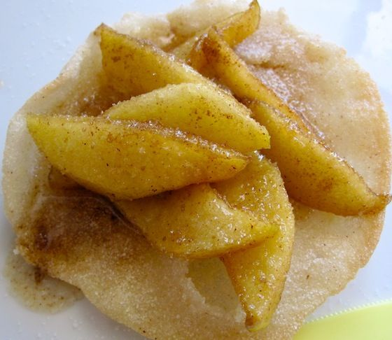 Sweet Arepas with Caramelized Apples | My Columbian Recipes