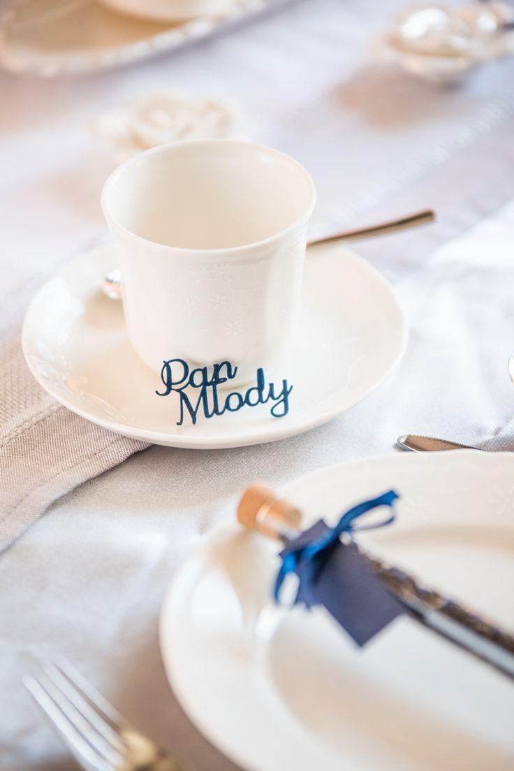 Wedding table with place card | winietki na stół wesleny