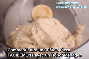 Saviez-vous que vous pouvez aussi utiliser votre robot ménager pour préparer la pâte à pizza maison très facilement ? Il suffit de mettre les ingrédients dans le bol de votre robot, puis de laisser la machine faire son travail. Regardez :-)  Découvrez l'astuce ici : http://www.comment-economiser.fr/comment-faire-pate-a-pizza-facilement-avec-robot-menager.html?utm_content=buffer0ee76&utm_medium=social&utm_source=pinterest.com&utm_campaign=buffer
