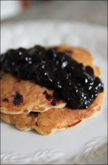 Blueberry Oatmeal Pancakes :)