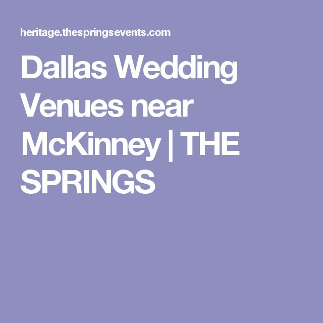 Dallas Wedding Venues near McKinney | THE SPRINGS