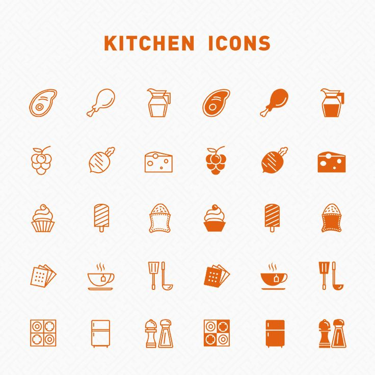 Free Line Filled Kitchen Icons Icons AI Food Free Graphic Design Icon K