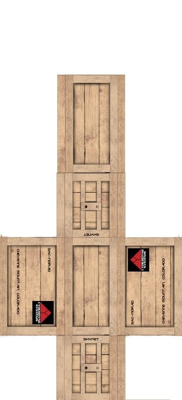 Cyberdyne Supply Crate | papercraft - buildings scenery etc ...