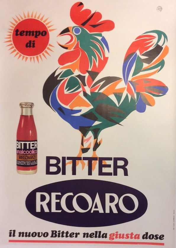 #Bitter #Recoaro #original #vintage #poster manifesti originali d'epoca www.posterimage.it