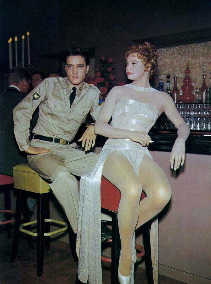 Elvis and Juliet Prowse GI Blues 1960 Elvis