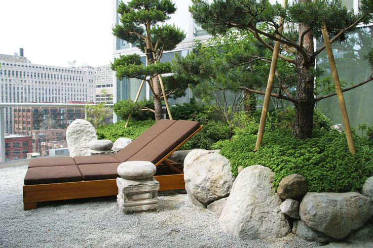Built on the 12th floor 2 800 square foot penthouse for Japanese garden design principles