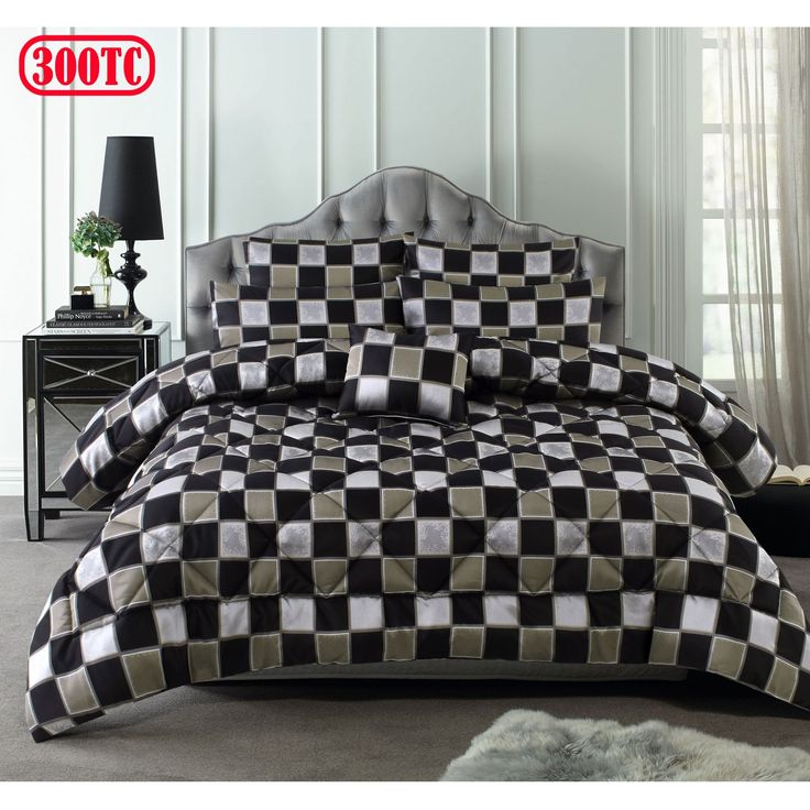 300TC 6 Pce Chester Jacquard Comforter Set by Accessorize