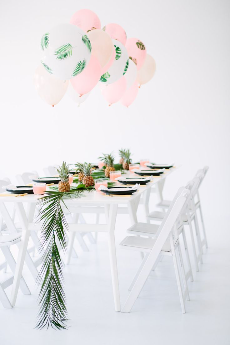 Palm Fronds and Bon Bons Dinner Party... Super cute