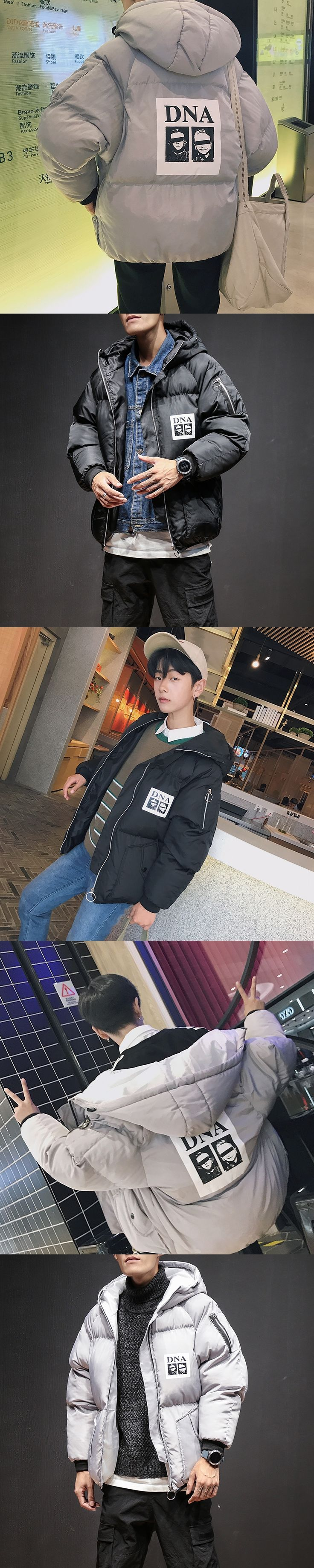 2017 Winter New Men's Snow Jackets Fashion Trend Thicken Cotton-padded Clothes Loose In Warm Coats Casual Brand Parka M-5XL