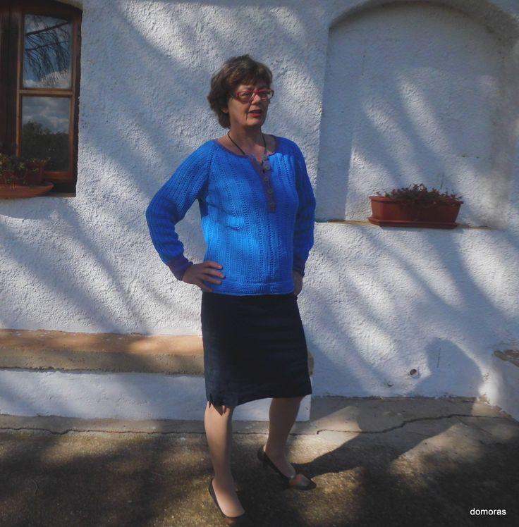 MANDRAZZE RUVIDA, maglia artigianale di cotone di domoras