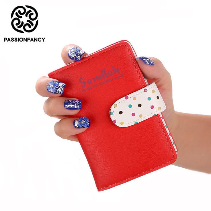 Lovely Candy Women Leather Credit Card Holder/Case card holder wallet Cover Business Card Package PU Leather Bag