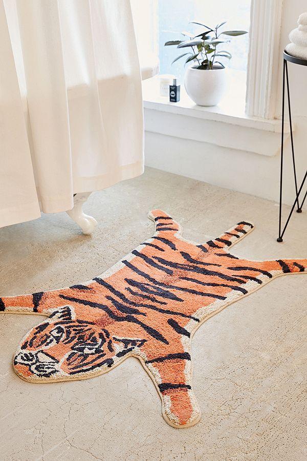 Tapis De Bain En Forme De Tigre Bath Mat Bathroom Rugs Bathroom Decor