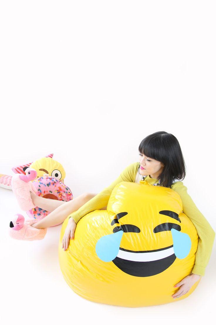 DIY Emoji Bean Bag Chair