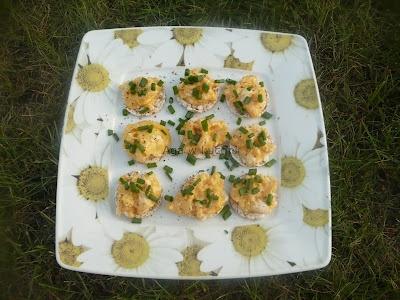 Wafelki ryżowe z jajecznicą