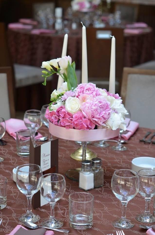 Foto: Opyxeyo Flowers/Decor/Prints: Magenta Events www.magentaevents.ro #wedding #pink #brown #hydrangea