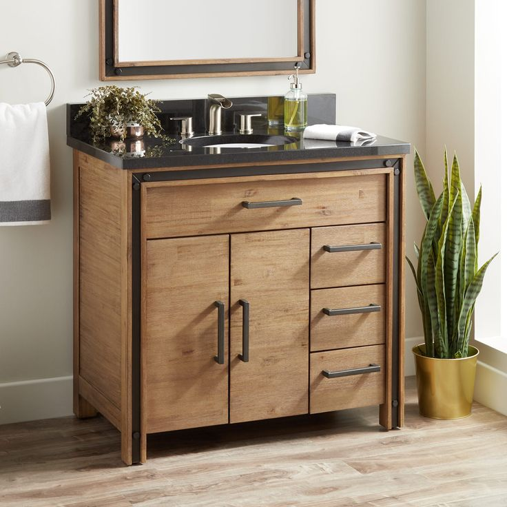 "36 ""Celebration Vanity für Undermount Sink – Rustikale Akazie"