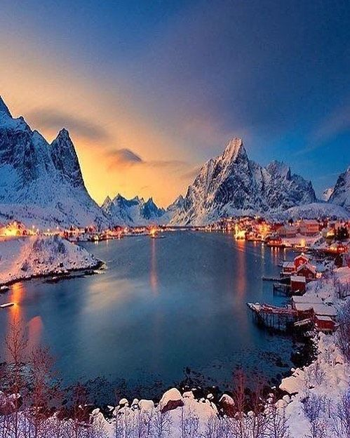 Reine Norway Travel Adventure Adventurescape Vacation Norway Europe Winter Beautiful By