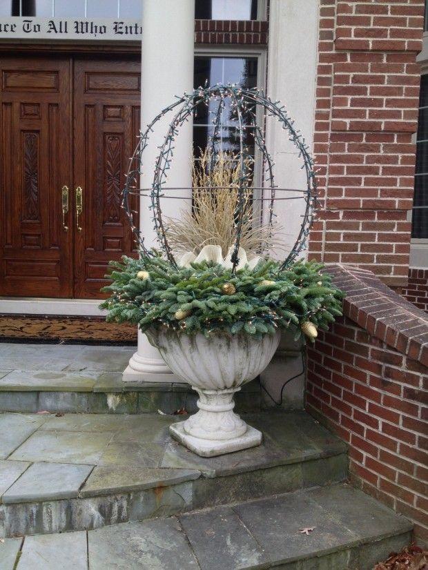 Winter planter by the amazing Deborah Silver, Detroit Garden Works, Branch Studio, Deborah Silver