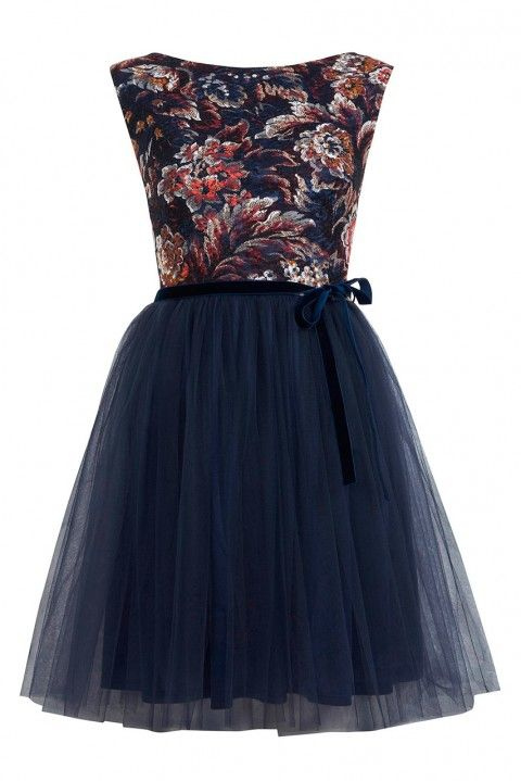 Miss Selfridge Floral Print Mesh Tutu Dress