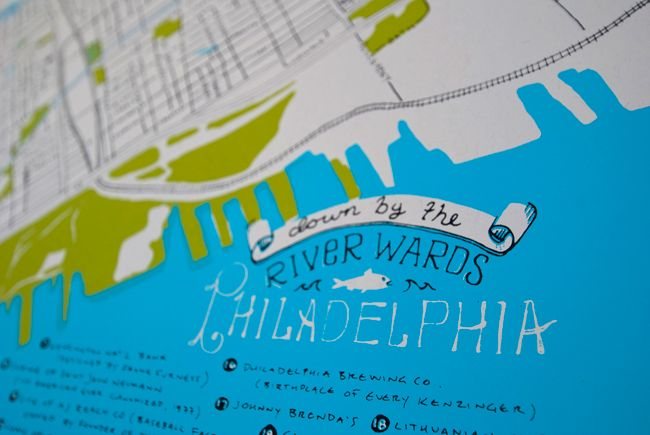 Limited Edition Map Of The Fishtown  Kensington  Port