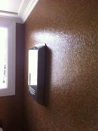 It looks like baby tiles but it's not! Textured Wallpaper.