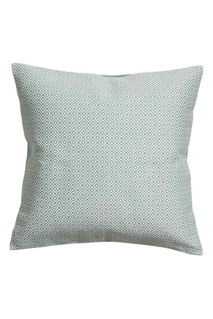 Husă de pernă țesută jacard - Verde-întunecat - HOME | H&M RO 1