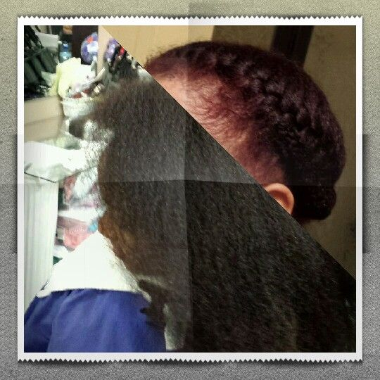 3 C 4 a type: natural hair my bright Burgundy