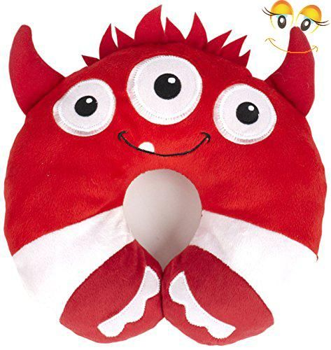 nuby kidu0027s neck support pillow monster red toddler car seat pillow baby head support child travel