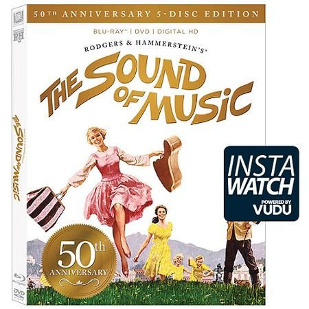 The Sound Of Music (50th Anniversary Edition) (Ultimate Collector's Edition) (3-Disc Blu-ray + DVD + CD + Digital HD) (With INSTAWATCH) (Widescreen) - Walmart.com