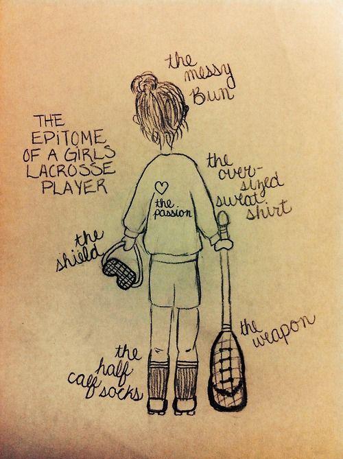 tr3cherous:  The epitome of a girls lacrosse player Drawn by Me; Bella Stevens #lacrossegirls #lacrosselife