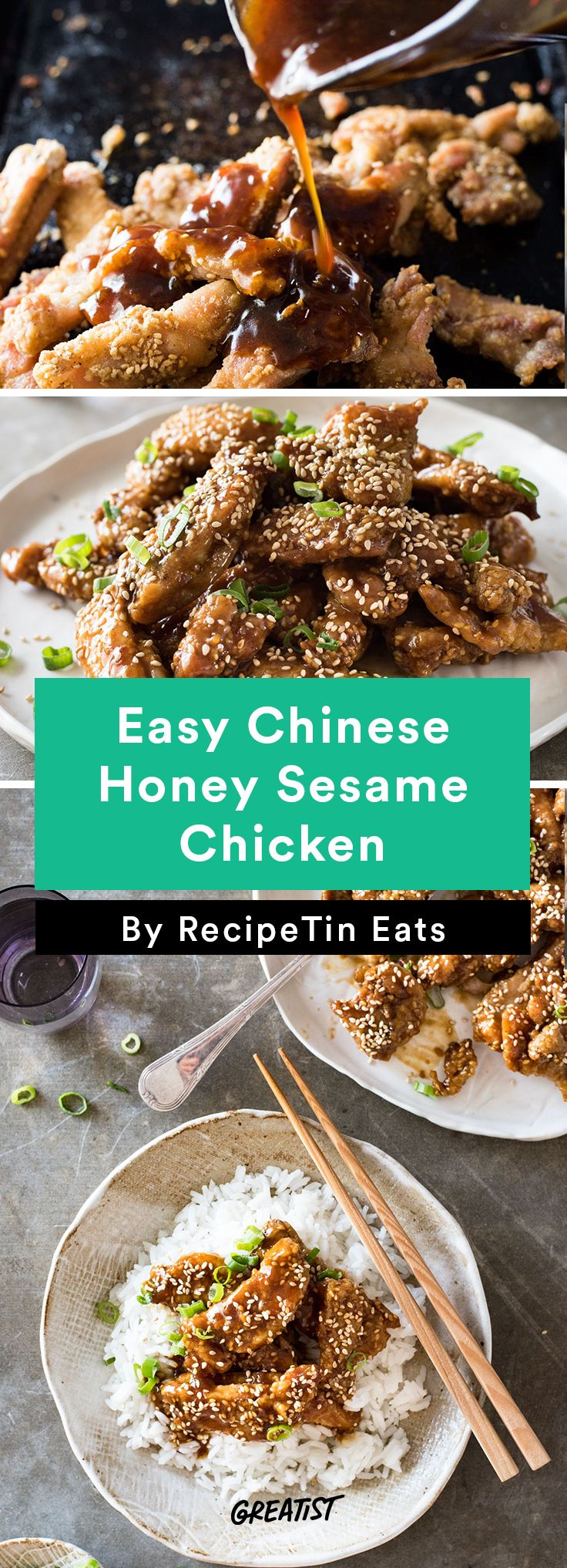 6. Easy Chinese Honey Sesame Chicken #healthy #chicken #recipes http://greatist.com/eat/easy-chicken-recipes-that-are-tasty-af