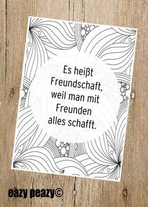 Postkarte für beste Freunde, motivierender Spruch, liebevoller Spruch / postcard for best friends, friendship for a lifetime, paper card, lovely sayi…
