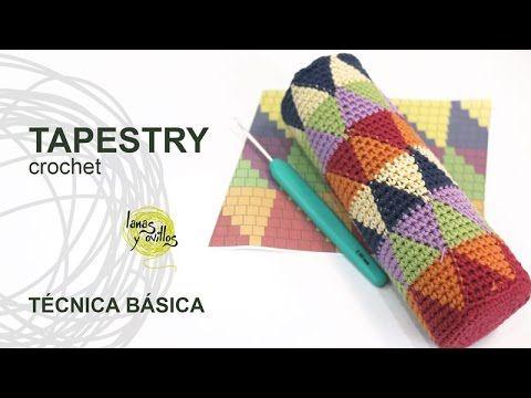 Tutorial Tapestry /Jacquard Crochet o Ganchillo Técnica Básica - YouTube