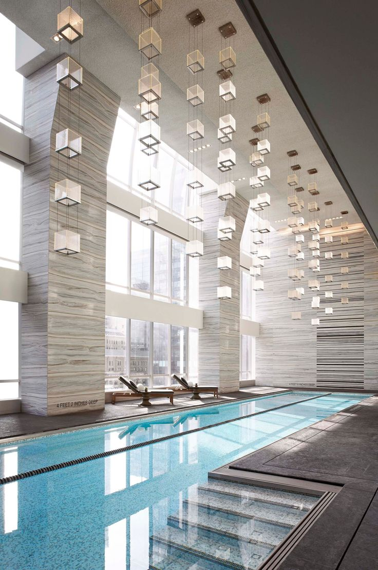 Park Hyatt New York Indoor Swimming Pool.  The pool overlooks Carnegie Hall… http://www.actuweek.com/go/hotel/hotelscombined.php