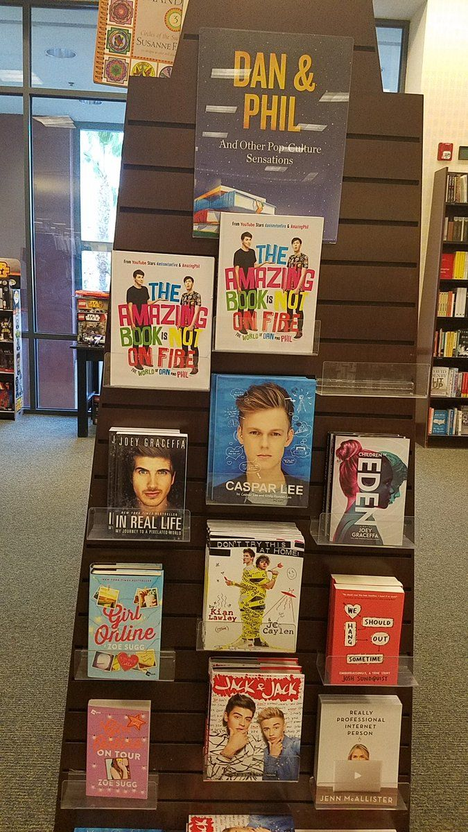 I found the danisnotonfire and AmazingPhil section at Barnes and noble.