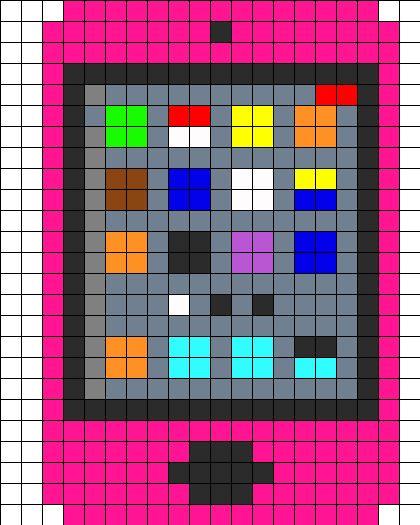 iPod Touch 4G perler bead pattern / bead sprite