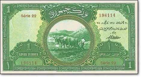 Sene 1931, Türkiye Cumhuriyeti ilk banknotlarını çıkartıyor. En küçük banknot 1 TL