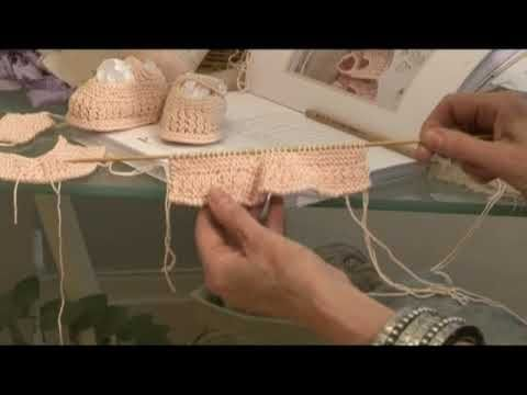 ▶ Free Knitting Pattern from CoatsCrafts.co.uk Knit Baby Booties6 upperstraps - YouTube