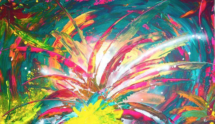 Chaos Toile abstraite Acrylique sur toile de coton Karolanne Leduc Artiste Suivez-moi sur facebook Karolanne Leduc Artiste Designer