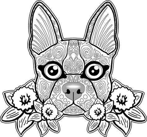 Adult Coloring Pages Dog 2